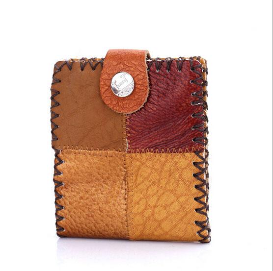 2d2619d17 Promoción Moda de Nueva bolso de cuero hecho a mano tradicional india  embrague billetera artesanal cuero