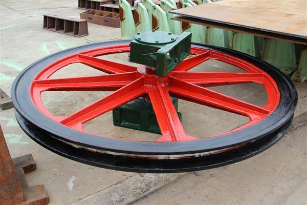 Coal mining use wire rope elevator pulley sheave