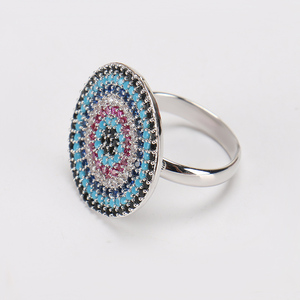 Lucky Evil Eye Ring Micro Pave Ring Copper Zircon For Women Men