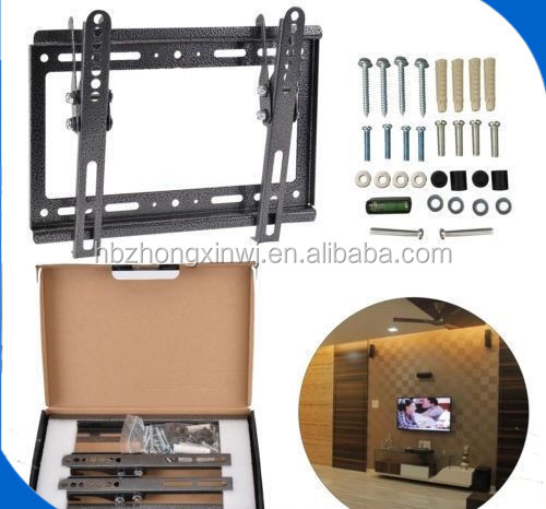 Glass and Metal modern tv cabinet LED TV Wall Mount