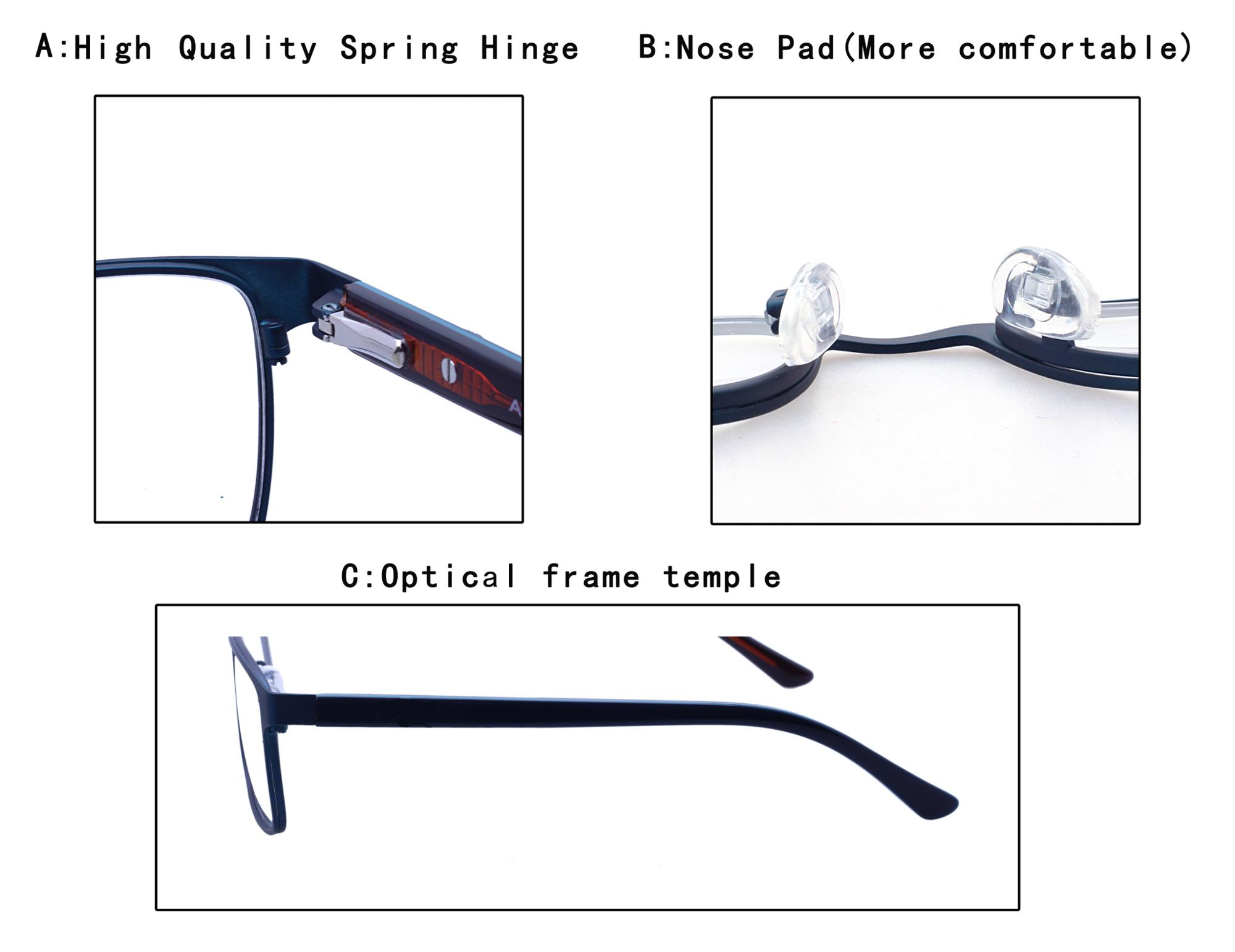 latest products 2018 square classic high quality metal eyewear optical eyeglasses spectacles frame