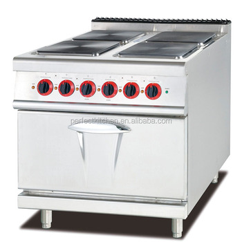 Electric Range With 4 Square Hot Plates