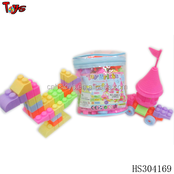 shantou novel cheap toy building block self assemble houses