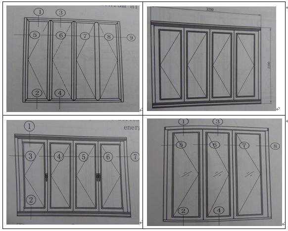 German Hardware Price Bi Folding Aluminium/aluminum&wood Folding ...