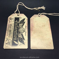 Black card hang tags with custom logo seal string for menswear