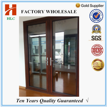 75series aluminum frame glass double entry door