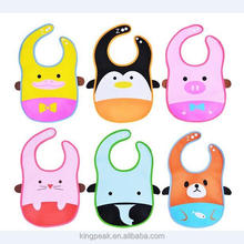 2017 Best Selling Waterpoof Baby Feeding Bucket Bib with food catcher/Very Cute 6 Designs Cartoon Baby Bibs with Snapes