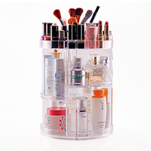 Hot sale makeup organizer Rotates 360 degrees plastic Cosmetic Carousel Acrylic cosmetic display