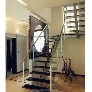 Bon Prefabricated Decorations Glass Railing For Folding Stairs Grill Design