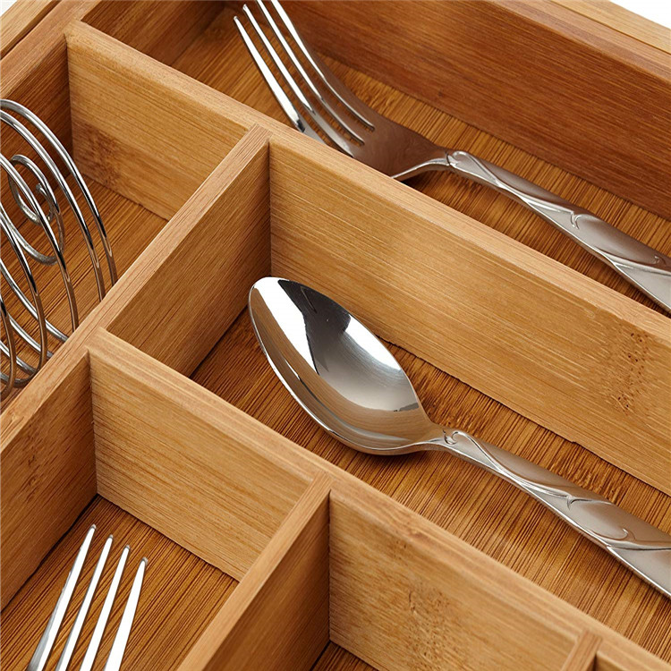 BAP Free Bamboo Expandable Cutlery Tray Drawer Organizer 3