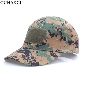 CUHAKCI New Mens Military Caps Tactical Cotton Hat Bonnet Camouflage  Baseball Cap Slouch Unisex 5f183407c0a7