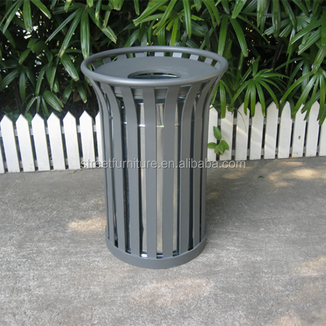Fire resistant/fireproof industrial waste bins metal waste paper bin