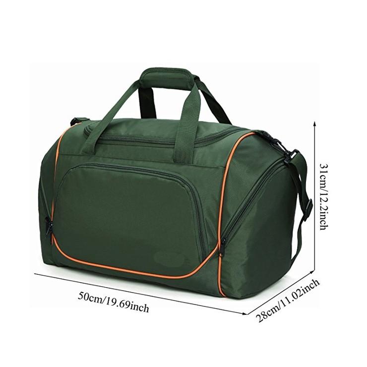 Portable Light Weight Sport Duffel Bag With Internal Zippered Pocket  Foldable Sport Bag tarpaulin two compartment duffel bag 2af279d8129b