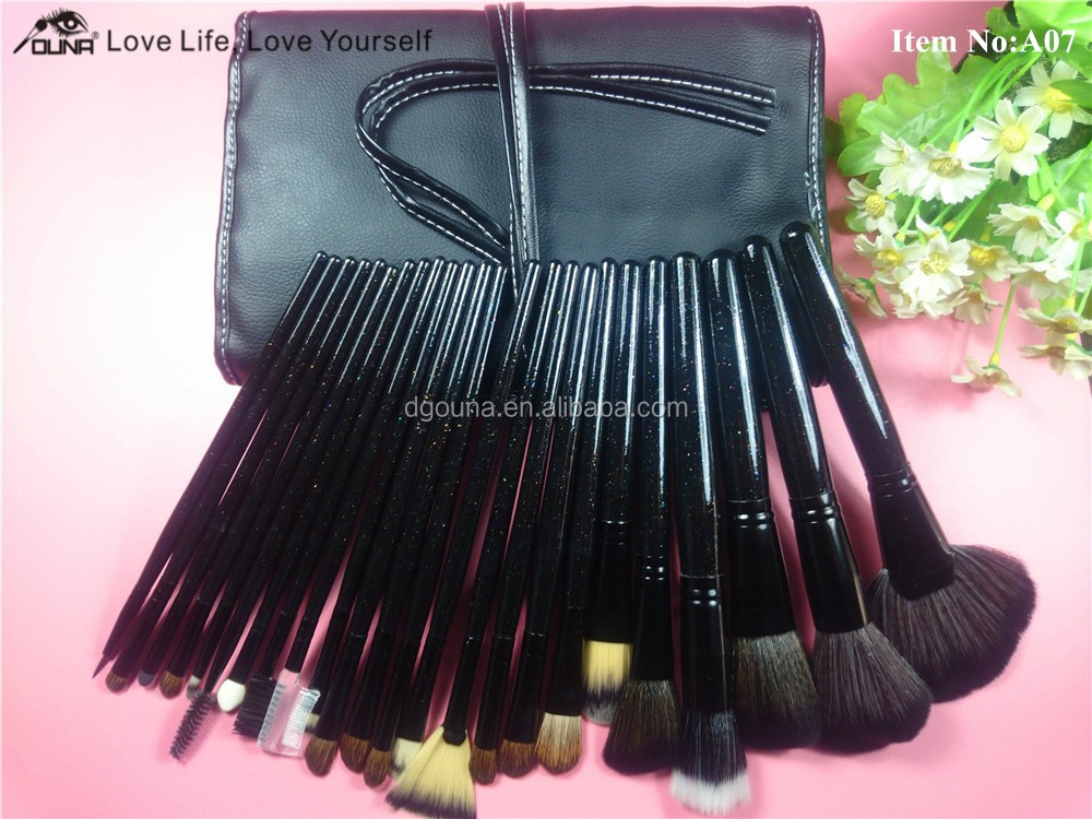OUNA retail online shopping 24 piece makeup brush sets kit
