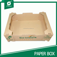 BROWN PRINTED PAPER TRAY FOR VEGETABLE LIKE MINI CUCUMBERS