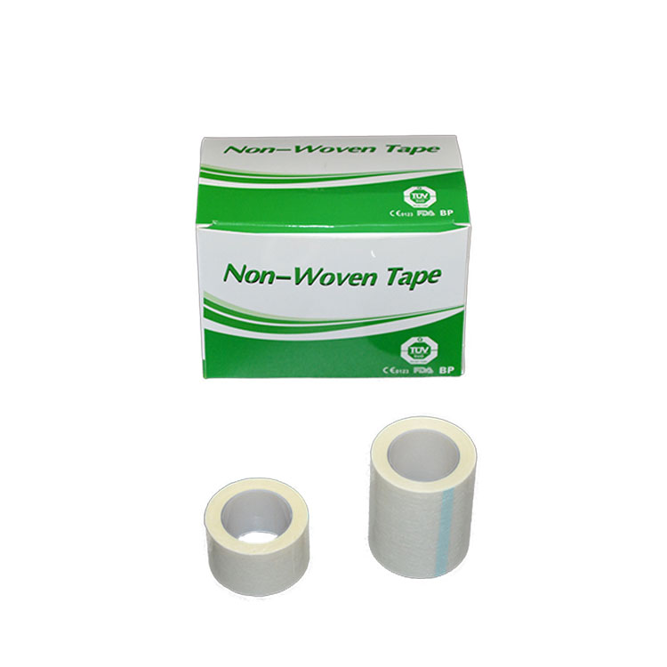 Skin White Color Types Of Perforated Adhesive Medical Non Woven Tape