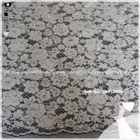 Nylon/cotton cording flower crochet guipure embroidery lace fabric for clothing DHFL0686