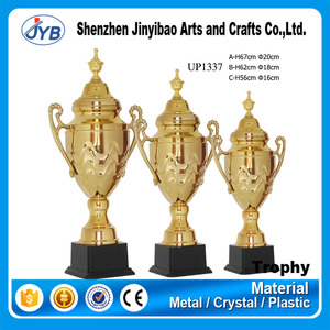 professional custom make metal gold sport trophy cup with plate