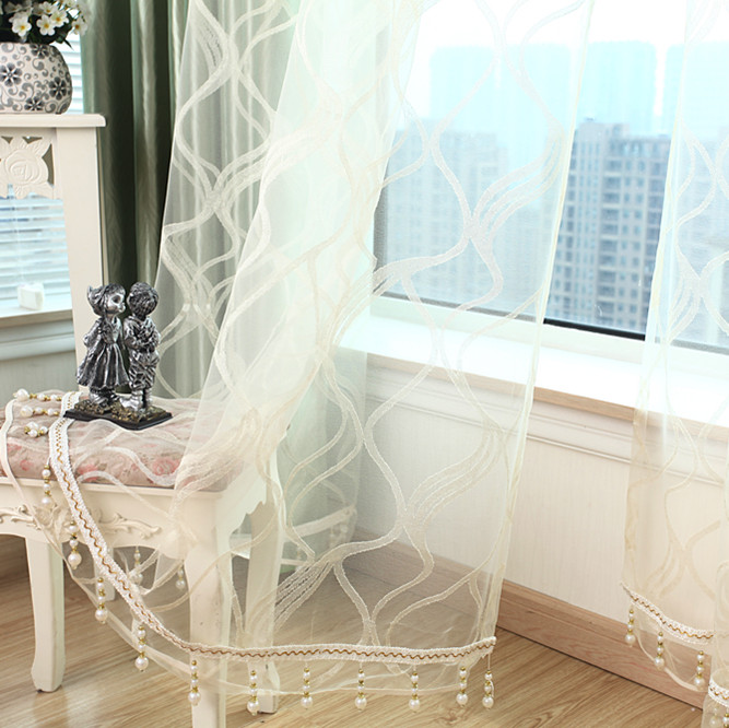 free shipping luxury curtain   finished voiles home decoration europe stype customized