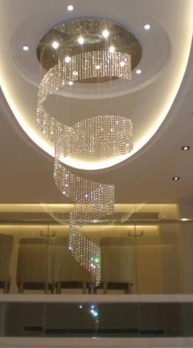 2015 new desgn hotsale/wholesale crystal hotel lobby chanderlier 15 light
