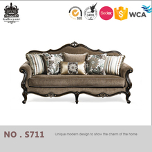 Living room furniture carving wood frame chesterfield philippines sofa set