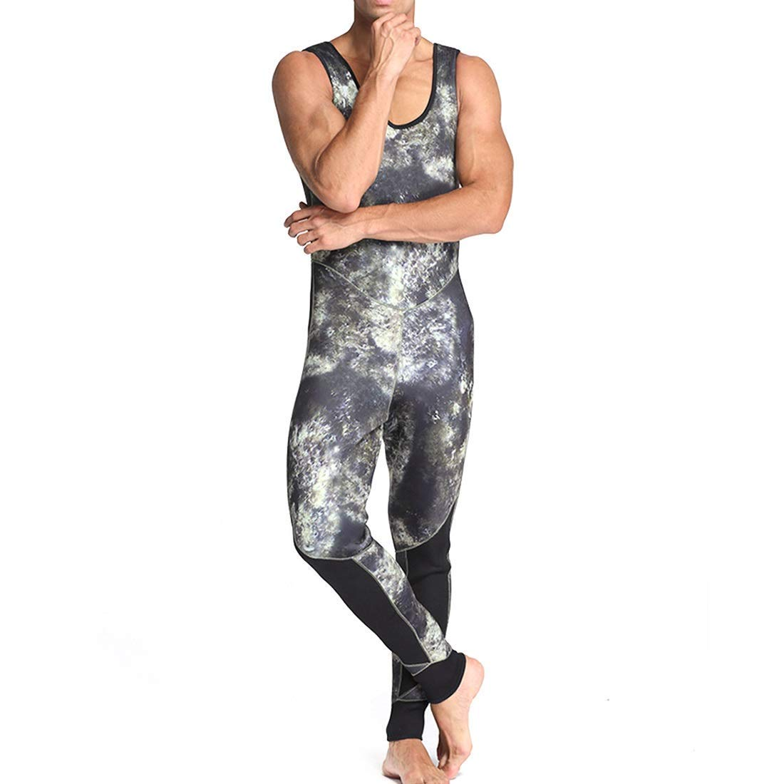 Get Quotations · Baszyt Wetsuits Surfing Men s Swimwear Diving Surfing  Camouflage Clothing Sweat-Absorbing Quick-Drying Cold e1e885bcf
