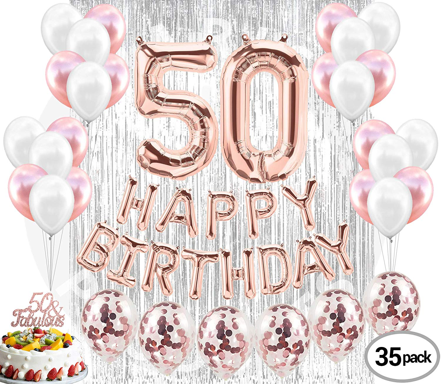 50th Birthday Decorations 50 Party Supplies