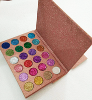 Your Own Brand 24 Color Cosmetics Glitter Eyeshadow Palette Private Label