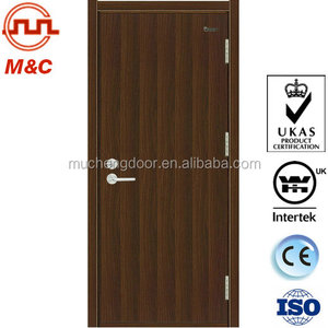 Hotel interior melamine board facing fire door with certification