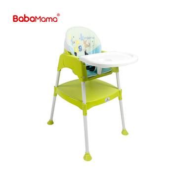 Portable Easy Moving Foldable Plastic Infant Dinning Feeding Green