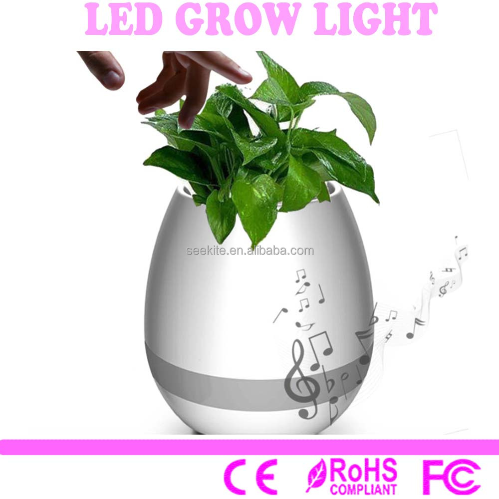 HOT Muti-color night light led mini touch green plant playing smart bluetooth speaker music flowerpot