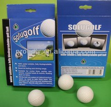 Water Soluble Golf ball, with Toxitity Test Report, Non-heavy-Metal Test Report