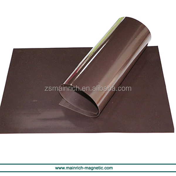 Rubber magnet roll tesa sticky magnetic sheet super adhesive
