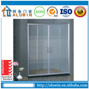 china suppliers double glass interior doors folding door toilet