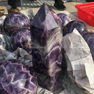 wholesale natural dream amethyst large crystal point healing amethyst crystal tibetan wands