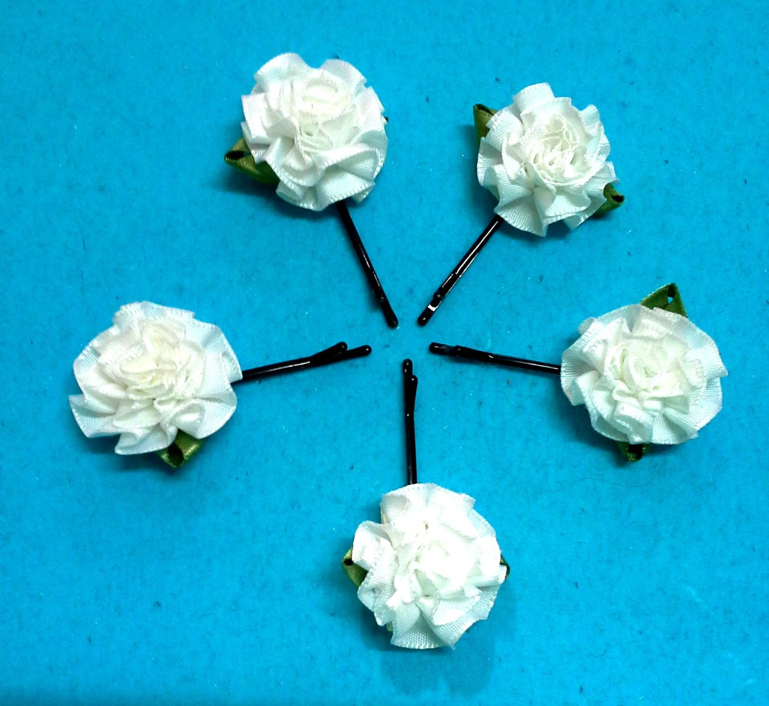 Cheap diy ribbon flower find diy ribbon flower deals on line at get quotations hair black clip craft cabbage white rose ribbon flower appliques wedding diy mightylinksfo