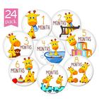 M127 High quality pregnancy boy month 1-12 monthly baby milestone stickers
