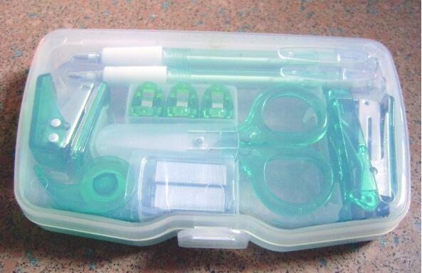 Plastic Stapler Staples Puncher Tape Dispenser Scissor