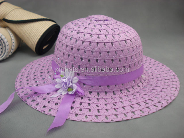 Best price latest printing flower baby paper straw hat