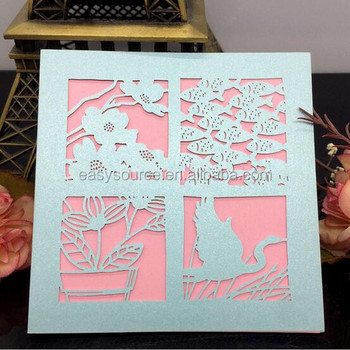 Promotional european laser cut printed paper folding cards handmade promotional european laser cut printed paper folding cards handmade christmas greeting card hk52 m4hsunfo