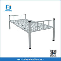 Knock Down Strong Metal Single Bed with Cheap Price
