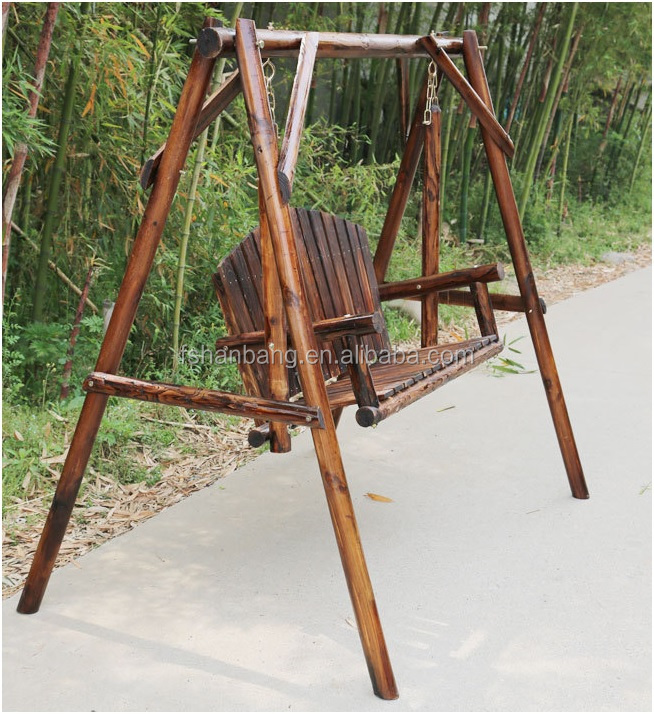 Garden Swings For Adults: Outdoor Patio Porch Furniture Wooden Garden Swing Double