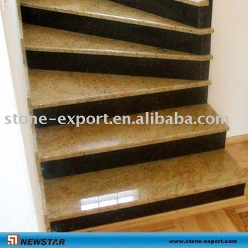 Marvelous Golden Granite Tread Stone Staircase Spiral Stairs Stair Treads Marble Stair