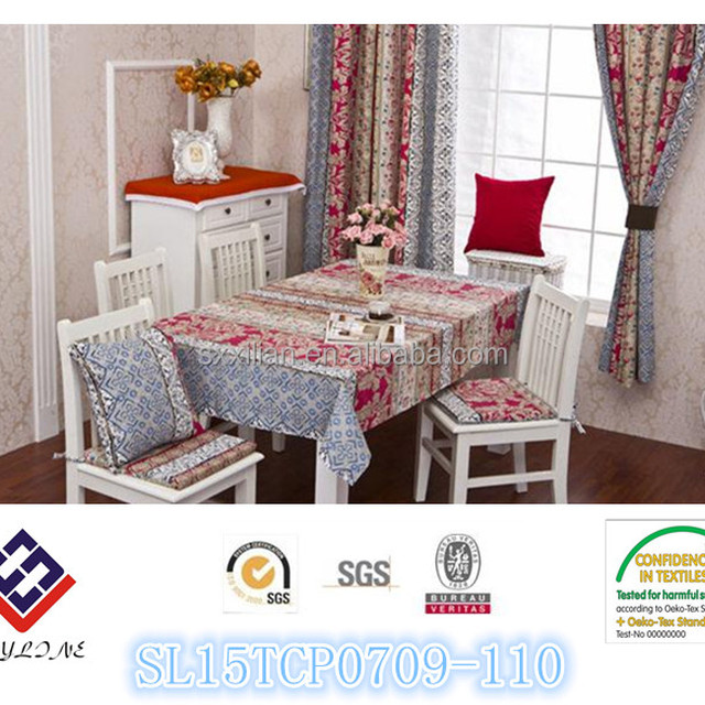 Handmade Tablecloth American Country Table Cloth Cotton Elegant Pastoral Table  Cloth