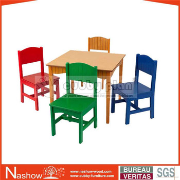 Surprising Cubby Plan Bwms 032 Solid Wooden Kid Table And Chair Set Nursery School Furniture Kid Furniture Buy Study Table And Chair Set Solid Wooden Kid Mini Caraccident5 Cool Chair Designs And Ideas Caraccident5Info