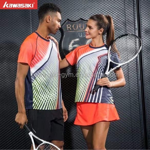 Customized High Quality Sport Polyester Tennis Tshirt Wear For Adult