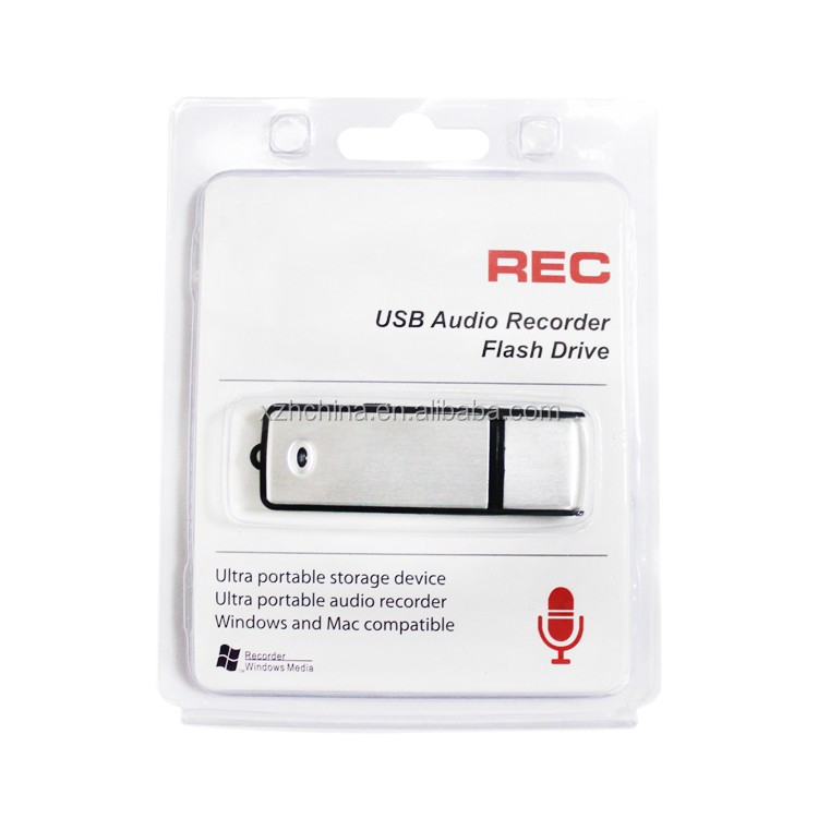 Spy Recording Device Mini Hidden Digital Audio Voice Recorder USB Flash Drive Disk 4GB 8GB 16GB Optional