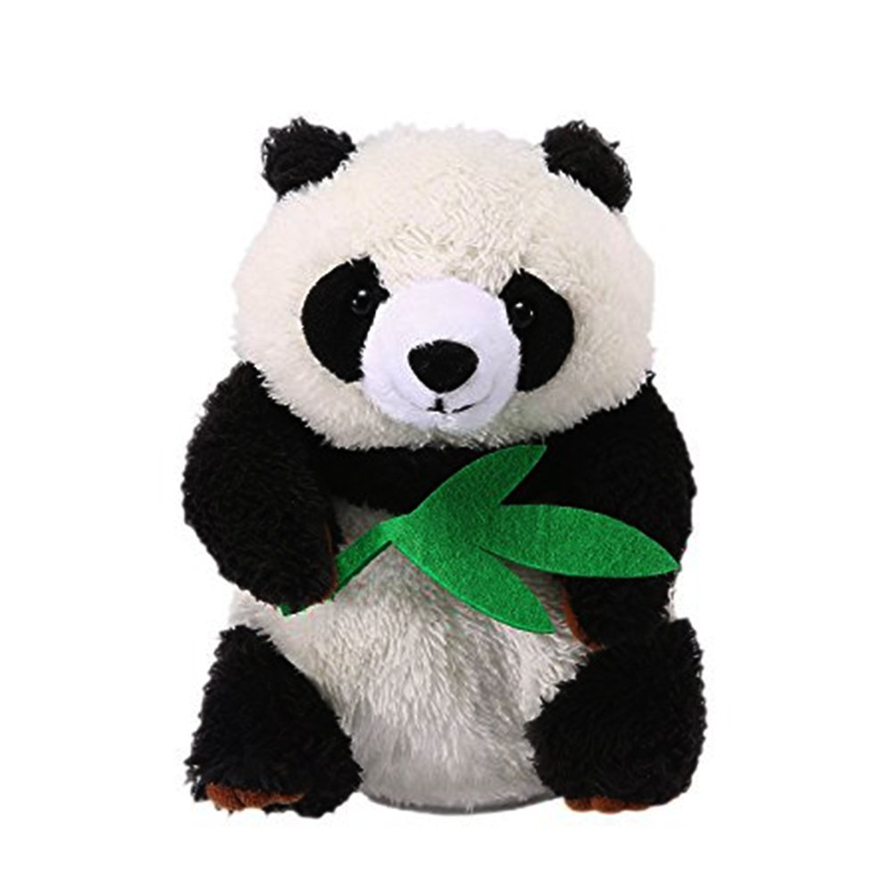 Talking Panda Repeats What You Say Plush Animal Toy Electronic Panda Panda for Children/Toy Gifts Birthday Gifts Christmas Gift,4 x7 inches (Black & White)