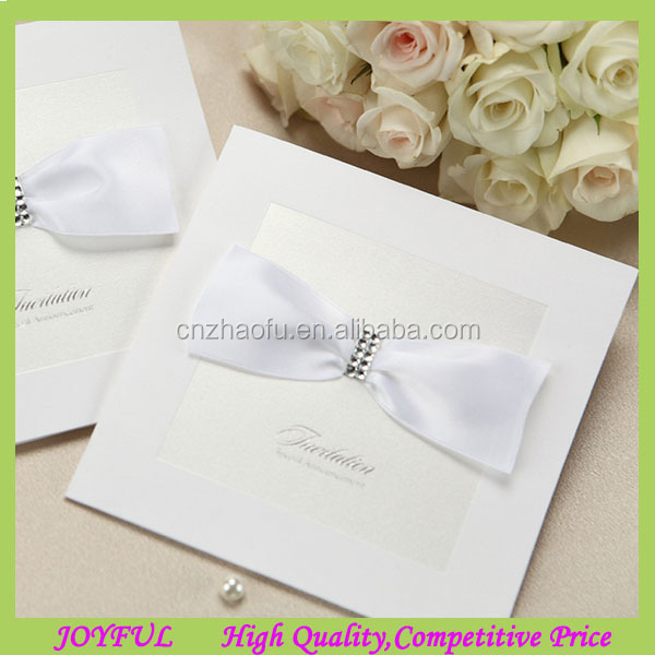 Elegant blank wedding invitation with ribbon bow wholesale blank wedding invitations, wholesale blank wedding,Blank Wedding Invitation Paper