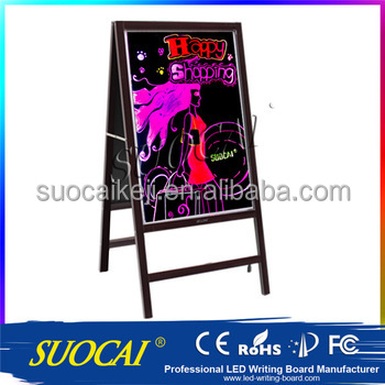 Shop front led sign board/ acrylic panel led rewritable advertising board